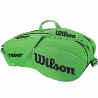 Geanta tenis Wilson Team III 6 76 x 20 32 cm verde WRZ854806