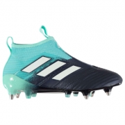 Ghete de fotbal adidas Ace 17 Plus Purecontrol SG Laceless pentru Barbati