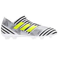 Ghete de fotbal adidas Nemeziz 17 Plus Pure FG Laceless pentru copii
