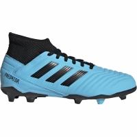 Ghete de fotbal Adidas Predator 193 FG albastru negru G25796 pentru copii