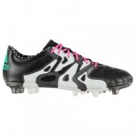 Ghete de fotbal adidas X 15.2 FG din piele pentru Barbati