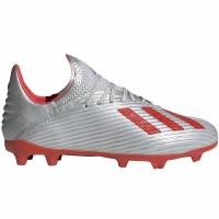 Ghete de fotbal Adidas X 191 FG Silver F35683 copii