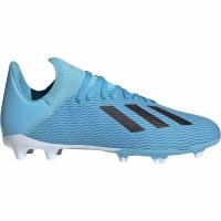 Ghete de fotbal Adidas X 193 FG albastru F35366 pentru copii