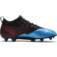 Ghete de fotbal Puma One 192 negru albastru rosu FG AG 105484 01 barbati