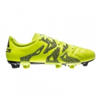 Ghete fotbal barbati X 15.3 FGAG Leather Yellow Adidas
