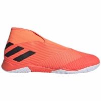 Ghete fotbal sala Adidas Nemeziz 193 LL IN fotbal portocaliu EH0276