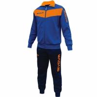 Trening sport Givova Visa albastru-portocaliu fluo barbati/baietei