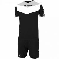 Givova kit echipament fotbal complet Campo negru-gri