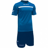 Mergi la Givova kit echipament fotbal complet One albastru-bleumarin KITC58 0204