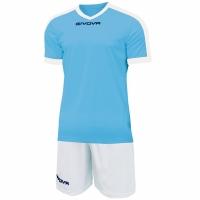 Mergi la Givova kit echipament fotbal complet Revolution albastru And alb KITC59 0503