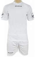 Givova kit echipament fotbal complet MC alb
