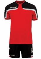 Echipament fotbal complet Givova America rosu and negru