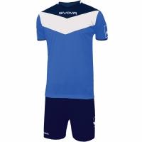 Set Givova kit echipament fotbal complet Campo albastru-bleumarin