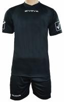 Givova kit echipament fotbal complet MC negru