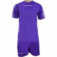 Set Givova kit echipament fotbal complet MC mov