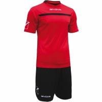 Givova kit echipament fotbal complet One rosu-negru