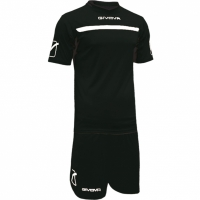 Set Givova kit echipament fotbal complet One in negru and alb