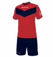 Echipament fotbal complet Givova Vittoria rosu-bleumarin