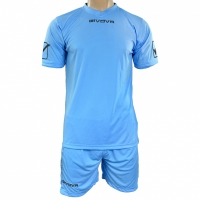 Givova kit echipament fotbal complet MC albastru