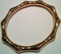 Gucci Jewels Mod Bamboo Braccialebracelet Oro Rosarose Gold L 17 Cm