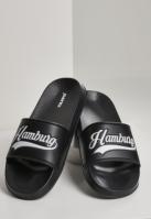 Hamburg City Slides negru-alb Schlappos