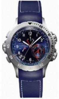 Ceas Hamilton - Khaki bleumarin Regatta Alarm - albastru - albastru cauciuc