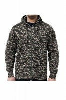 Hanorac barbati Zip Hoodie Digital Woodland Green Game