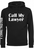 Hanorac Call My Lawyer negru Mister Tee