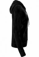 Hanorac din material tip catifea pentru Femei negru Urban Classics