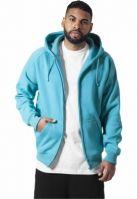 Hanorac hip hop cu fermoar albastru aqua Urban Classics