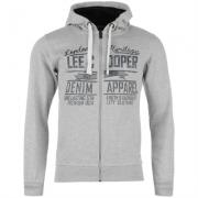 Hanorac Lee Cooper cu fermoar Through Logo pentru Barbati