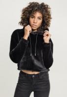 Hanorac lejer Short Teddy pentru Femei negru Urban Classics
