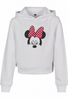 Hanorac Minnie Mouse Bow Cropped pentru Copii alb Mister Tee