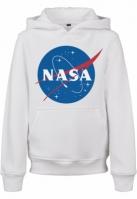 Mergi la Hanorac NASA Insignia pentru Copii alb Mister Tee