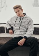 Hanorac Pulover tricot gri Urban Classics