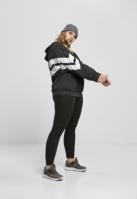 Hanorac simplu model sport Mix Crinkle nailon pentru Femei negru-alb Urban Classics