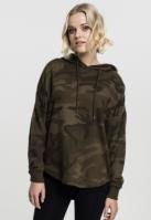 Hanorac supradimensionat Camo pentru Femei oliv-camuflaj Urban Classics