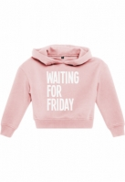 Hanorac Waiting For Friday Cropped pentru Copii roz Mister Tee