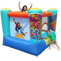 Happy Hop Fantastic Skate 7ft x 6.5ft Bouncy Castle pentru Copii