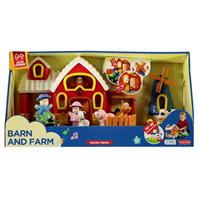 Happy Kid Barn and Farm Playset