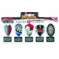 Aripioare pentru sageti darts Harrows SYSTEM 5