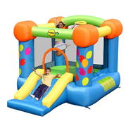 Happy Hop 9ft x 7ft Party Slide and Hoop Bouncer