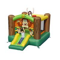 Happy Hop Hop Gorilla Slide And Hoop Bouncer