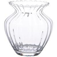 Hotel Collection Hourglass Optical Swirl Vase