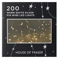 House of Fraser 200 Pin Wire LED Lights
