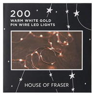 House of Fraser House 200 Pin Wire LED Lights