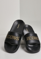 Mergi la Icons Slides negru-auriu Schlappos