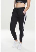 Pantaloni sport Interlock pentru Femei negru-alb Urban Classics