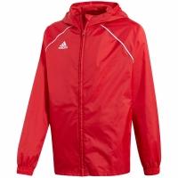 Jacheta adidas Core 18 ploaie rosu CV3743 copii teamwear adidas teamwear
