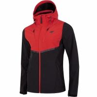 Jacheta barbati Softshell 4F negru-rosu H4Z19 SFM003 62S